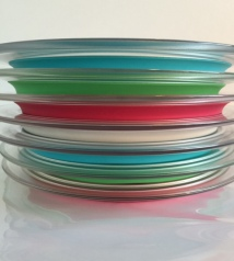 """You In?"" PLate comes in three colors: Aqua, Green and Pink"